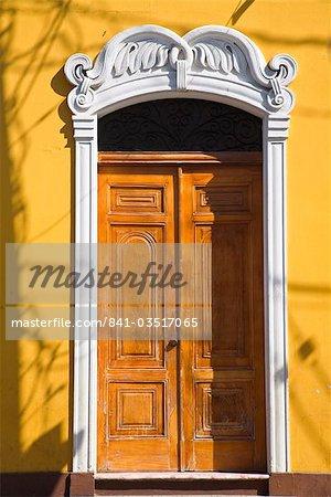 Door, Park Colon (Park Central), Granada, Nicaragua, Central America