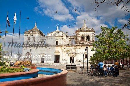Leon Cathedral, known as Basilicade la Asuncion, Leon, Nicaragua, Central America