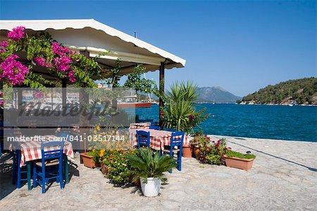 Taverna, Vathi, Meganisi, Ionian Islands, Greek Islands, Greece, Europe