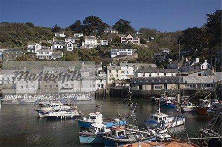 Harbour, Polperro, Cornwall, England, United Kingdom, Europe