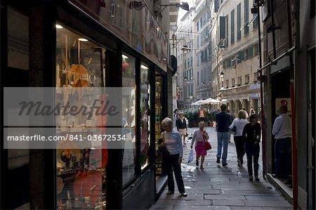 Street scene, Genoa port, Liguria, italy, Europe