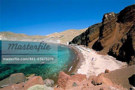 Red beach, Akrotiri, island of Santorini (Thira), Cyclades Islands, Aegean, Greek Islands, Greece, Europe