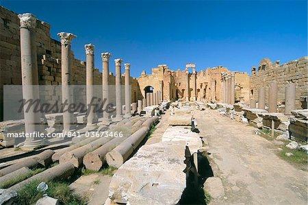 Severan Basilica, Leptis Magna, UNESCO World Heritage Site, Tripolitania, Libya, North Africa, Africa
