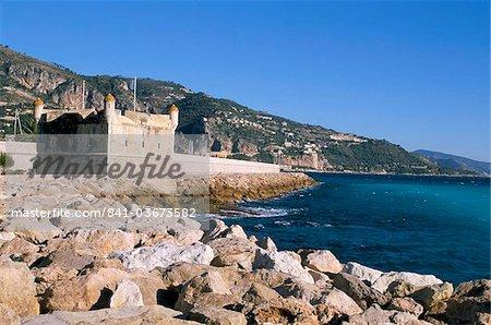 Bastion, Menton, Alpes-Maritimes, Cote d'Azur, Provence, French Riviera, France, Mediterranean, Europe