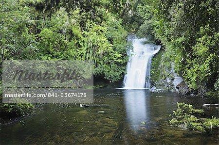 Bridal Veil Falls, Te Urewera National Park, Bay of Plenty, North Island, New Zealand, Pacific