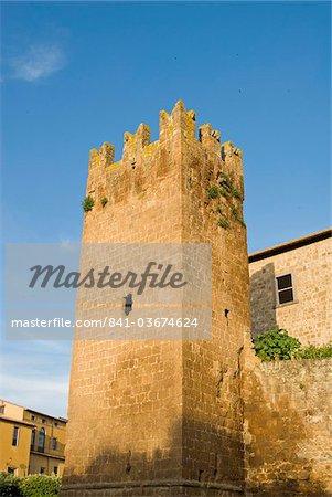 City ramparts, Tuscania, Viterbo, Lazio, Latium, Italy, Europe