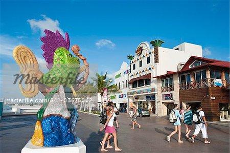 Carnival decorations in San Miguel, Isla de Cozumel (Cozumel Island), Cozumel, off the Yucatan, Quintana Roo, Mexico, North America