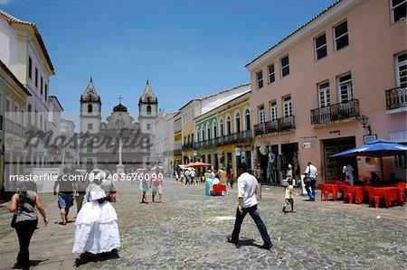 The Sao Francisco church in the district of Pelourinho, UNESCO World Heritage Site, Salvador de Bahia, Brazil, South America