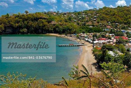 Coastal village, Anse La Raye, St. Lucia, Windward Islands, West Indies, Caribbean, Central America