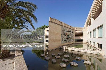 Garden at Fundacio Pilar I Joan Miro, Cala Major, Majorca, Balearic Islands, Spain, Mediterranean, Europe