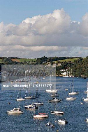 Fowey harbour and estuary, Cornwall, England, United Kingdom, Europe