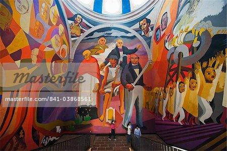 Murals at Palacio Clavijero, Morelia, Michoacan state, Mexico, North America