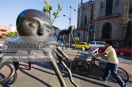 Modern art sculpture, Guadalajara, Mexico, North America