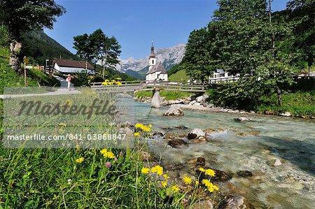 Church of Ramsau, Berchtesgadener Land, Bavaria, Germany, Europe