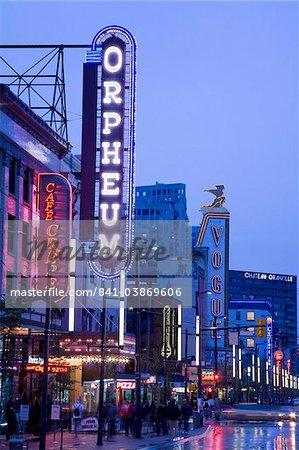 Orpheum Theatre on Granville Street, Vancouver, British Columbia, Canada, North America