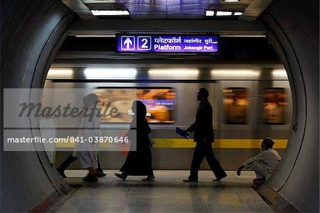 Subway, Delhi, India, Asia