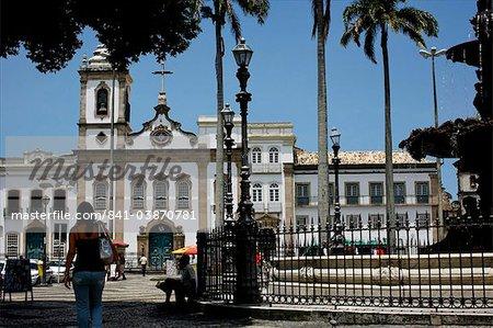 The 16 do novembro Square in the Pelourinho district, Salvador de Bahia, Brazil, South America