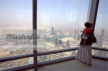 View of Dubai from the Burj Khalifa tower, Dubai, United Arab Emirates, Middle East