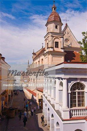 Pedestrian zone of Vilnius, Lithuania, Baltic States, Europe