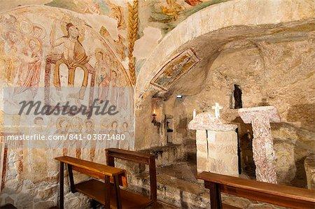 Chapel, hermitage of San Cataldo, Cottanello, Rieti, Lazio (Latium), Italy, Europe