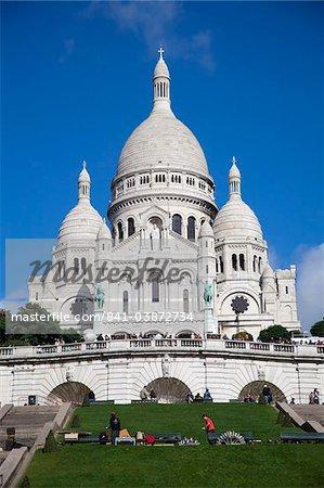 Basilica of Sacre-Coeur, Montmartre, Paris, France, Europe