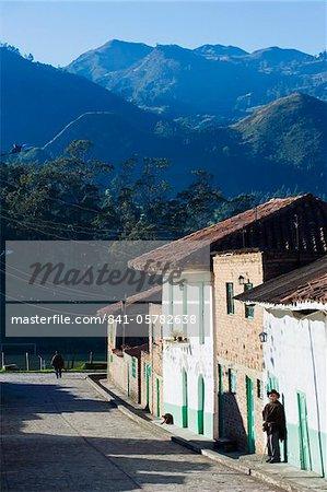 Village houses in El Cocuy, Colombia, South America