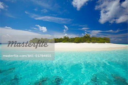 Uninhabited island, Maldives, Indian Ocean, Asia