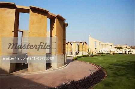 Astronomical instruments at Jantar Mantar, UNESCO World Heritage Site, Jaipur, Rajasthan, India, Asia
