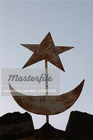 Muslim Symbols Bamako Mali West Africa Africa Stock Photo