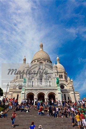 Basilica of Sacre Coeur, Montmartre, Paris, France, Europe
