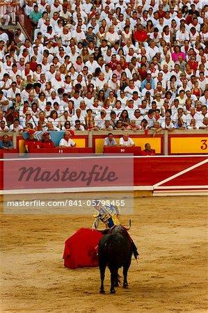 Bullfight, San Fermin festival, Pamplona, Navarra (Navarre), Spain, Europe
