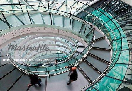 Helical staircase, City Hall, London, England, United Kingdom, Europe