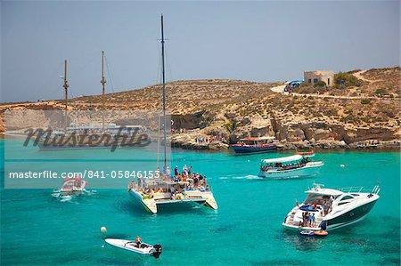 Blue Lagoon, Comino, Malta, Mediterranean, Europe