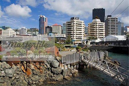 Taranaki Street Wharf, Wellington, North Island, New Zealand, Pacific