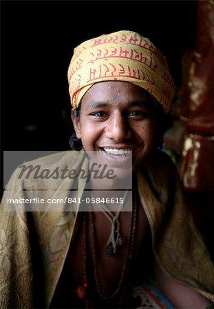 Brahmin boy, Kathmandu, Nepal, Asia
