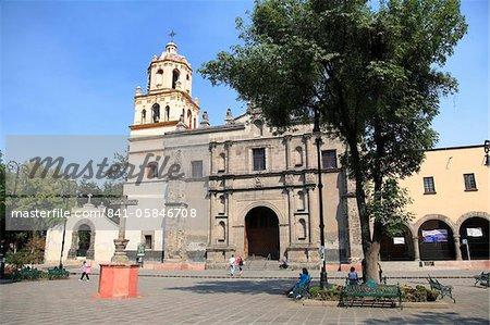 Iglesia De San Juan Bautista Plaza Hidalgo Coyoacan Mexico City