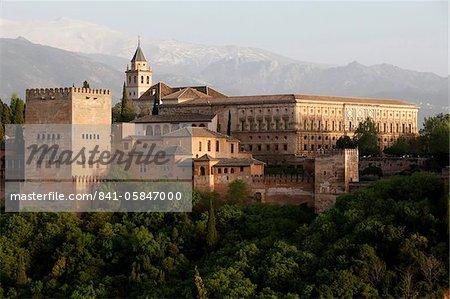 The Alhambra, UNESCO World Heritage Site, Granada, Andalucia, Spain, Europe
