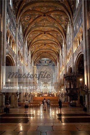 Interior of the Duomo (Cathedral), Parma, Emilia Romagna, Italy, Europe