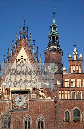 Town Hall, Old Town, Wroclaw, Silesia, Poland, Europe