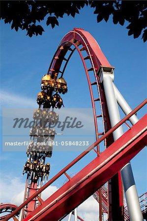 Tivoli Gardens fair ride, Copenhagen, Denmark, Scandinavia, Europe
