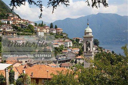 Lakeside village, Lake Como, Lombardy, Italian Lakes, Italy, Europe