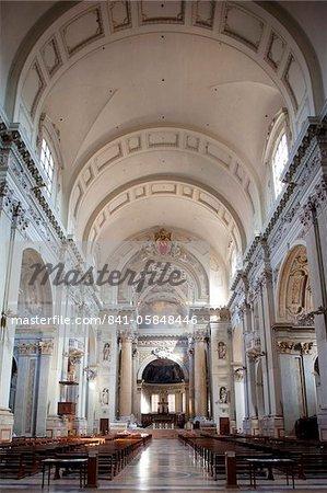 Interior of the Cathedral San Pietro, Bologna, Emilia Romagna, Italy, Europe