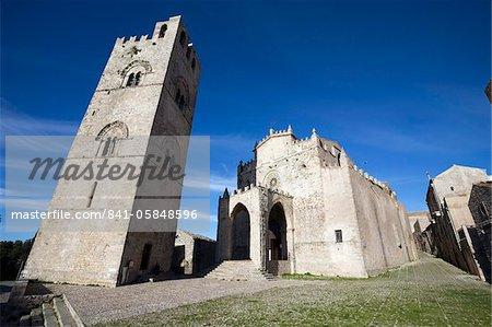 The Duomo, Erice, Sicily, Italy, Europe