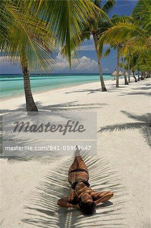 Beach scene, Panglao, Bohol, Philippines, Southeast Asia, Asia