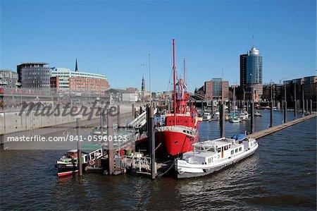Sandtor Harbour, Hamburg, Germany, Europe
