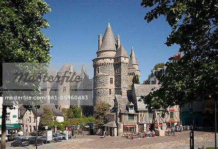 Vitre Castle, Vitre, Brittany, France, Europe