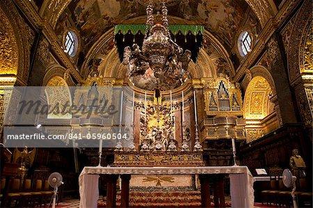 High Altar, St. John's CoCathedral, Valletta, Malta, Europe