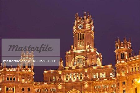 Palacio de Comunicaciones in Plaza de Cibeles, Madrid, Spain, Europe