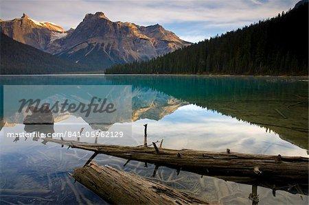 Reflections at Emerald Lake, Yoho National Park, UNESCO World Heritage Site, British Columbia, Rocky Mountains, Canada, North America