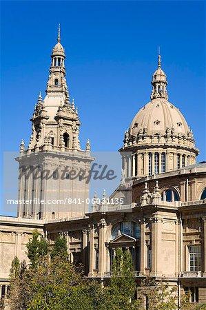 Museu Nacional D'Art de Catalunya in the Montjuic District, Barcelona, Catalonia, Spain, Europe